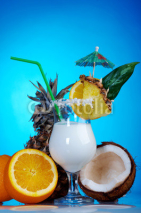 Naklejki Pina Colada - Cocktail with Cream