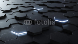 Obrazy i plakaty Technical 3D hexagonal background design
