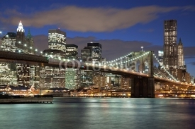 Obrazy i plakaty New York City skyline- Brooklyn Bridge