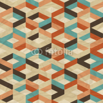 Fototapety Seamless retro geometric pattern.