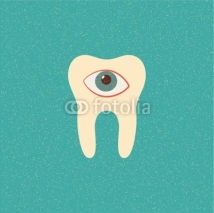 Fototapety tooth retro poster