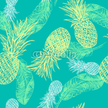 Naklejki Tropical seamless pattern