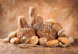 Fototapety Fresh bread on wood