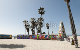 Obrazy i plakaty Art walls on Venice beach, Los Angeles, California, USA