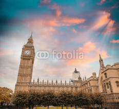 Naklejki Westminster Palace. Houses of Parliament and Big Ben Tower in Lo