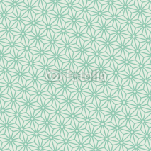 Fototapety Seamless turquoise diagonal japanese asanoha pattern vector