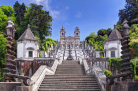Stairway to the church of Bom Jesus do Monte in Braga (Portugal)