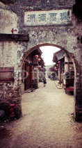 Obrazy i plakaty Traditional chinese village street view