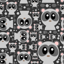 Obrazy i plakaty Seamless pattern with cute baby pandas