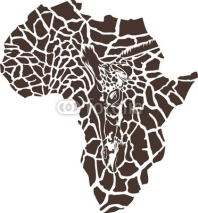 Fototapety Africa in a giraffe camouflage