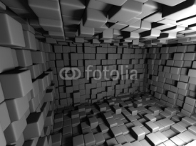 Obrazy i plakaty Abstract Dark Cubes Wall Room Background