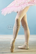 Fototapety Ballet dancer's legs in slippers