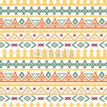 Fototapety Tribal art ethnic boho seamless pattern