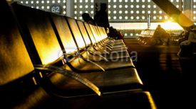 Fototapety empty Airport seats