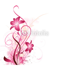 Obrazy i plakaty floral background in pink