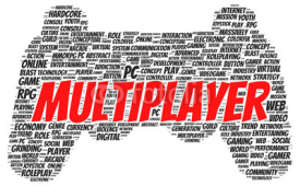 Obrazy i plakaty Multiplayer word cloud shape