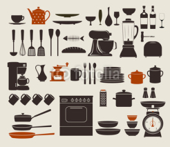 Obrazy i plakaty Kitchen Appliances, Utensils and Icons