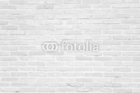 Naklejki White grunge brick wall texture background