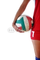 Fototapety gir playing volleyball