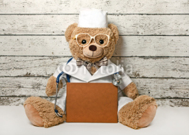 Obrazy i plakaty Teddy bear-doctor with a book