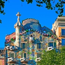 Naklejki Casa Battlo in Barcelona - Spain, designed by; Antoni Gaudi