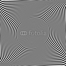 Fototapety Torsion illusion. Abstract op art background.
