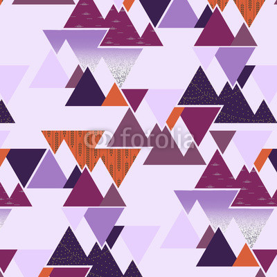 Seamless vector pattern - Lavender Mountains