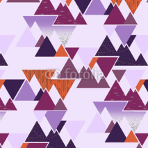 Fototapety Seamless vector pattern - Lavender Mountains