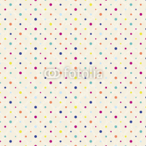 Naklejki polka dots pattern, seamless with grunge background, retro style