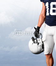 Fototapety American Football Player Standing Strong