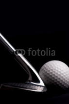 Fototapety golf  club  with ball on black background