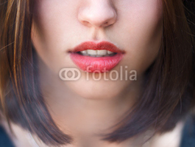 Fototapety face of a girl with sexy lips
