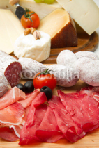 Fototapety cold cuts and cheese