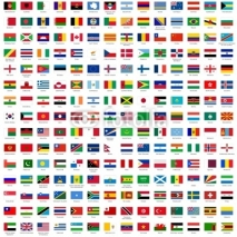 Naklejki alphabetically sorted flags of the world