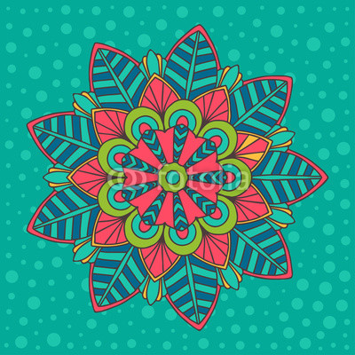 Colorful vector mandala