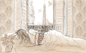 Obrazy i plakaty woman sleeping in Paris