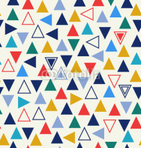Naklejki Geometric seamless pattern with triangles