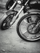 Naklejki Wheels of motorcycles