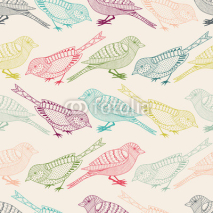 Obrazy i plakaty Seamless pattern with birds