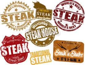 Naklejki Steak stamps