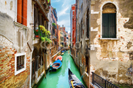 View of the Rio de S. Maria Mater Domini Canal, Venice, Italy
