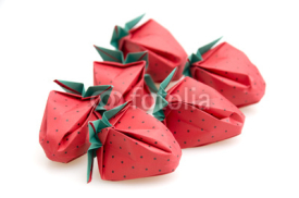 Naklejki Origami Strawberries