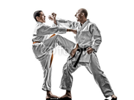 Fototapety karate men teenager student fighters fighting