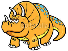Naklejki Vector illustration of Cartoon dinosaur