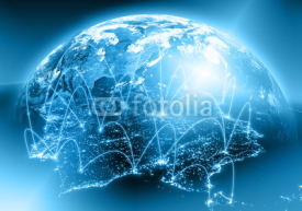 Fototapety Physical world map illustration. Elements of this image furnished by NASA