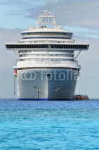 Naklejki Cruise Ship In Tropical Waters