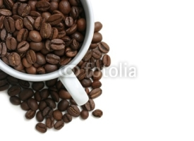 Fototapety coffee beans cup