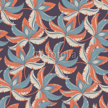Fototapety Seamless retro pattern