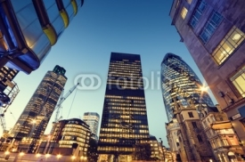 Fototapety Skyscrapers in City of London,