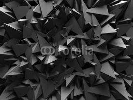 Obrazy i plakaty Abstract Dark Chaotic Wall Design Background